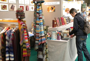 Sarah Walker's lampshades stand